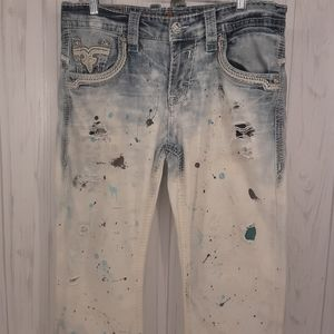 Rock Revival | Men's Custom Destroyed Jeans | 32